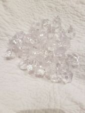 CRYSTAL CLEAR FACETED ACRYLIC BEADS MIXED JOB LOT...over 400 in total
