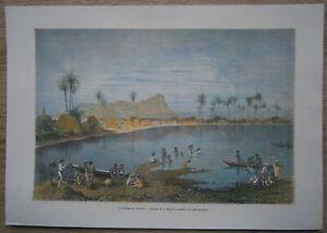 1873 print WAIKIKI, NEAR HONOLULU, HAWAII (#219)
