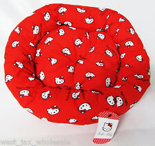 Hello Kitty Discontinued Red Donut Plush Soft Pet Cat Kitten Puppy Dog Bed 19""