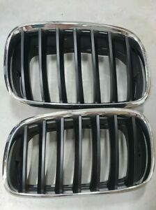 BMW E70/E71 X5 X6 front  kidney grilles chrome and black Genuine BMW NEW