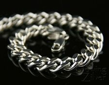 GENUINE REAL 925 SOLID STERLING SILVER MENS CURB LINK NECKLACE CHAIN 50cm $1600