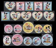 Scott No. 3411a-j + 3412a-j Disney Characters [Year2012] (20 USED Stamps)