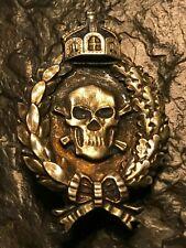 Leibhusaren goldfarbend Totenkopf-Abzeichen