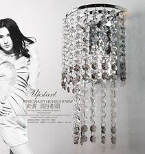 Grey Clear K9 Crystal Wall Light Lamp For Bedroom Aisle Hallway Dinning Room Bar