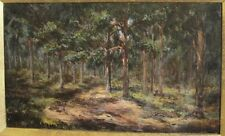 "Fine Antique 19th C. Oil Painting 'Morning in the Pines'  c. 1870  19"" x 12"""