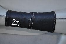 white stitch FITS JAGUAR DAIMLER XJ8 X308 97-03 2X DOOR HANDLE LEATHER COVERS