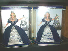 Lot 2 1999 Holiday Millennium Princess Barbie Star Backround EARLY ED & Spiral