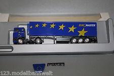 """Herpa Exclusiv Sattelzug DAF 95 """"Euromaster"""" blau 1:87 Spur H0 OVP"""