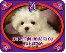 """PURPLE T SHIRT 3X """"SHE LEFT ME HOME TO GO RED HATTING"""" FOR LADIES OF SOCIETY"""