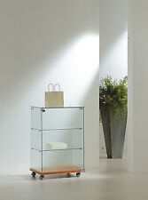 Vetrina bassa Vetrinetta Espositore Display Showcase Vetro Banco serratura
