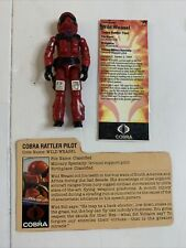 Gi Joe Wild Weasel Cobra Rattler Pilot 84 Filecard Action Figure