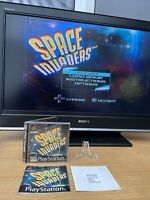Space Invaders Sony PS1 Playstation One Game Black Label Manual Complete Tested