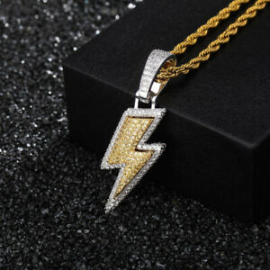 Hip Hop High Quality Shining Pendant Necklace 18k Real Gold Plated Rap Jewelry