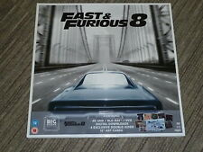 "FAST & FURIOUS 8 BIG SLEEVE 12"" EDITION 4K UHD BLURAY MOVIE NEW & SEALED Art DVD"