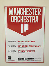 MANCHESTER ORCHESTRA 2014 Australian Tour Poster A2 Cope Hope Simple Math ***NEW