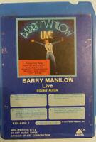 8-Track Tape Barry Manilow - Live Double Album, 1977 Arista