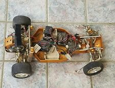 Vintage R/C RC10 RC Buggy RC-10 Gold Pan Radio Controlled Race Car for Parts!