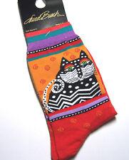 Laurel Burch Socks Polka Dot Cats - Red 780512030480