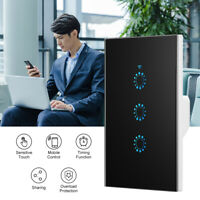 Smart Light Switch Home WiFi Touch Wall Panel For Alexa Google APP 1/2/3 Gang