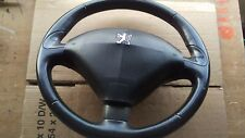 PEUGEOT 407 04-09 BLACK LEATHER STEERING WHEEL WITH AIRBAG 96445891ZD