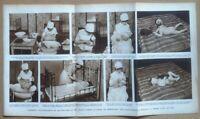Tavola da Enciclopedia Il Medico in Casa - Igiene nei bambini - anni '50
