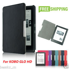 Magnetic Auto Sleep Slim Cover Case Leather Hard Shell For KOBO GLO HD 6.0inch