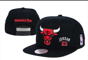 Embroidered NBA Basketball Flat Cap Black Snapback: One Size Fits Most