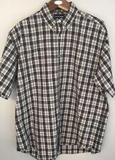Ralph Lauren Golf Mens Short Sleeve Button Down Black & White Plaid Shirt Sz XL