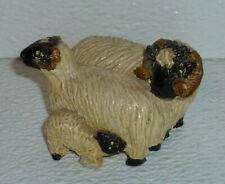 "Art Pottery Sheep Figurine Ram Lamb Croft Douglas Pitlochry Vtg Scotland 2"""