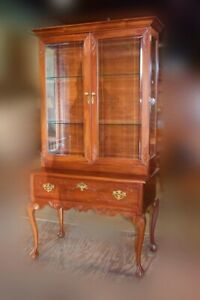 Restored Antique Cherry Chippendale Cabinet Ball & Claw Feet