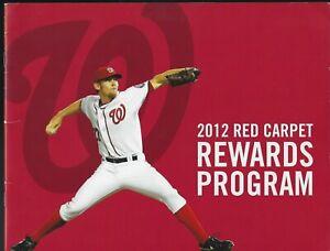 2013 Washington Nationals Red Carpet Rewards Program Brochure - Ryan Zimmerman