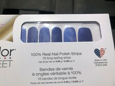 Color Street Juneau The Drill 100% nail polish strips Blue Glitter