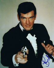 """Roger Moore 1927-2017 autograph photo 8""""x10"""" signed IN PERSON James Bond 007"""