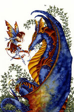 Curiosity by Amy Brown Fairy Dragon Art Print Poster 12x18