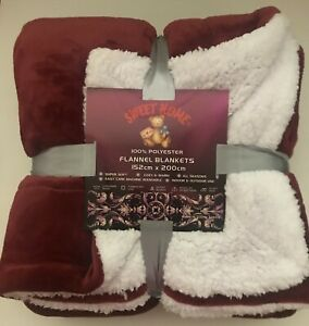Christmas Sourced Sherpa Flannel Throw 3-Layer Blanket Support Poor Kid & Family
