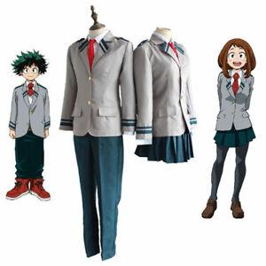 Anime My Hero Academia School Uniform Suit Boy Girl Cosplay Costumes