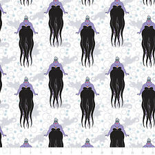 Disney Villain Little Mermaid Ursula White 100% Cotton fabric by the yard
