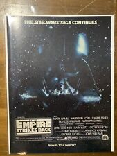 Vintage Print Ad - 1980 - Star Wars Empire Strikes Back - 8x10.