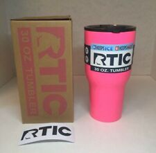 RTIC 30 OZ Pink Tumbler Cooler with Lid 30oz- Stainless Steel Cup Mug NEW STYLE