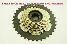 LOWER GEAR EASY TO RIDE YOUR BIKE UP HILL MEGA RANGE  6 SPEED FREEWHEEL CASSETTE
