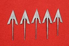 Set Of 5 Medieval Damascus Steel Hand Forged  Arrowheads Arrow Point Arrow Tips