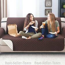 Deluxe Reversible Sofa Furniture Protector, Couch Cover Coffee or Tan Color