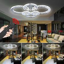 Kristall Deckenlampe 96W LED Deckenleuchte Wohnzimmer mit Fernbedienung Luxus