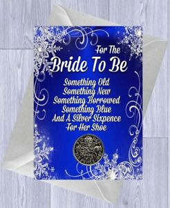 LUCKY SIXPENCE Wedding, BRIDE Keepsake Gift, Gift Card & Envelope