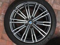 "BMW 3 SERIES G20 G21 18"" STYLE 790M REAR 8.5J ALLOY WHEEL & TYRE 8089891 OEM #1"