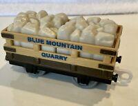 2009 - Blue Mountain Quarry Car w/Rocks  - Thomas & Friends Trackmaster - EUC