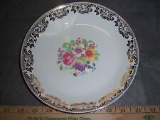 Stetson China Soup Bowl 22 kt gold rimmed Floral Pattern Free Shipping