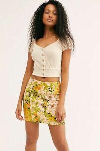 Free People Modern Femme Novelty Skirt-$68 MSRP