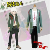 Danganronpa 2 Komaeda Nagito Cosplay Costume Full Set Halloween Unisex