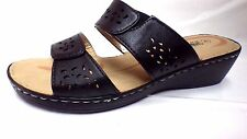 SIZE 4 BLACK NEW LADIES SANDALS WEDGE SHOES BY SHOE TREE SLIP ON LIGHT     16477